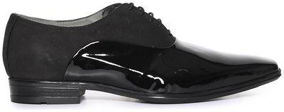 Arrow Patent Panel Leather Oxford Shoes