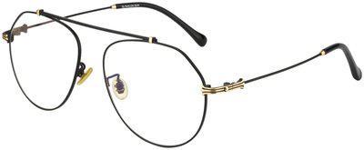 Ted Smith Black Aviator Full Rim Eyeglasses for Men - 1