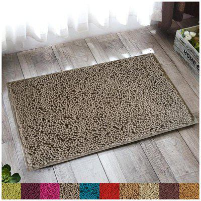 Lushomes Chenille Dove Thick and fluffy 2200 GSM bathmat with High Pile Microfiber with Synthetic backing, Super Absorbent (12x 18, 30 x 45 cms, Single Pc)