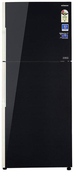 Hitachi 451 L 2 star Frost free Refrigerator - R-VG470PND3- (GBK) , Glass black