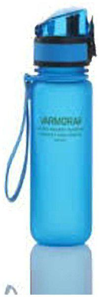 Varmora Plastic Blue Water Bottle ( 500 ml , Set of 1 )