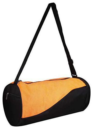 JMO27Deals Polyester Men Duffle Bag & Gym Bag - Black & Orange