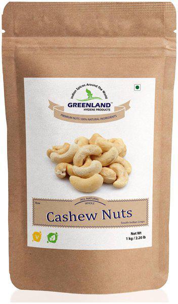 GREENLAND Whole Cashew Nuts (Kaju) 1Kg -Premium Grade (Pack of 2, Each 500gm)