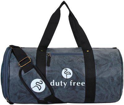 DUTY FREE Pu Men Duffle Bag & Gym Bag - Grey