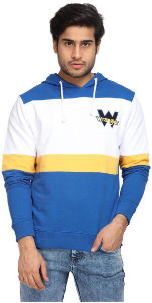 Wrangler Men Cotton Sweatshirt - Blue