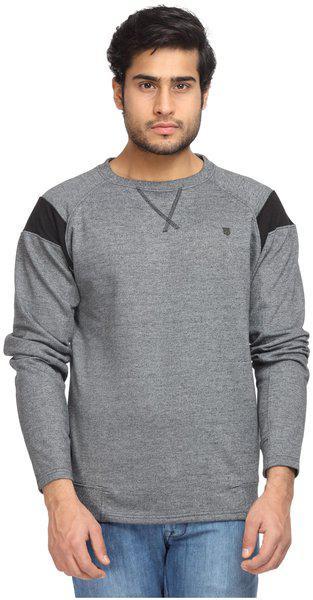 Wrangler Men Poly Cotton Sweatshirt - Grey