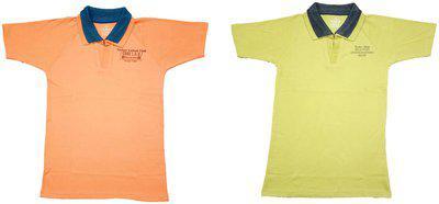 EPOXY Boy Cotton Solid T-shirt - Multi