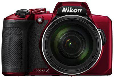 Nikon Coolpix B600 16 MP Digital Camera with Carry Case plus HDMI Cable plus 16 gb SD Card (Red)