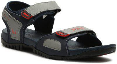 FILA Men's EFISIO Navy/Grey/Chinese Red Sandals/India (44EU) (11006536)
