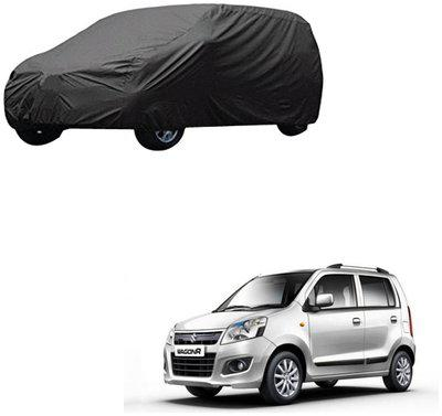 AutoRetail Maruti Suzuki WagonR Grey Car Body Cover for 2015 Model (Triple Stiched;without Mirror Pocket)