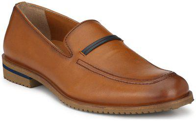 Delize Black/tan Leather Moccasin Shoes For Men's