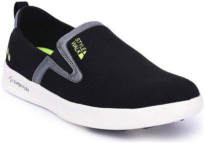 Campus Style Walk Lifestyle Men's Black Synthetic Casual Shoes ()