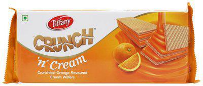 Tiffany Crunch 'n' Cream Crunchiest Cream Wafers - Orange Flavored 150 gm