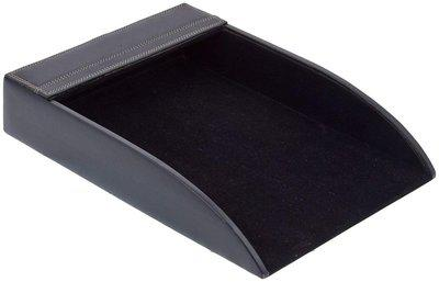 Leather Paper Tray in Black