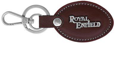 Memoir Leather Oval shape Brown leather Royal Enfield Key ring, Key chain Bike latest, Accessory Royal Enfield