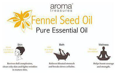 Aroma Treasures Fennel Seed Essential Oil - 100% Pure & Natural 10 ml