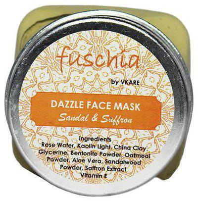 Fuschia Dazzle Face Mask - Sandal & Saffron 100 gm