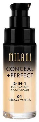 Milani Conceal plus Perfect 2-In-1 Foundation plus Concealer - Creamy Vanilla 30 ml