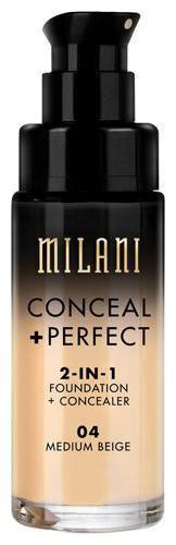 Milani Conceal plus Perfect 2-In-1 Foundation plus Concealer - Medium Beige 30 ml