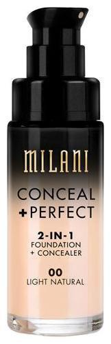 Milani Conceal plus Perfect 2-In-1 Foundation plus Concealer - Light Natural 30 ml