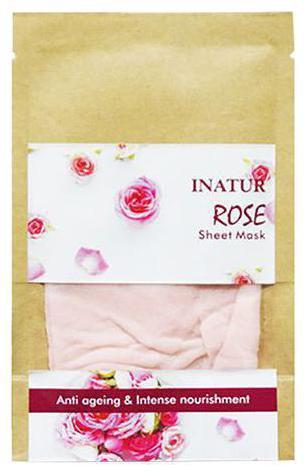 INATUR Rose Sheet Mask 38 gm