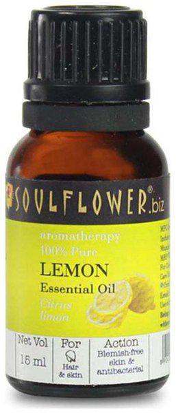 Soulflower Lemon Essential Oil 15Ml