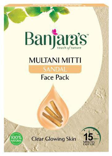 Banjaras Multani Mitti plus Sandal Face Pack Powder 20 gm