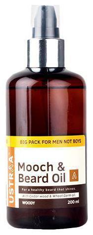 USTRAA Mooch & Beard Oil Woody 200 ml