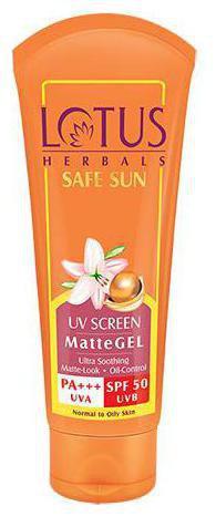 Lotus Herbals Safe Sun Uv Screen Matte Gel Pa plus plus plus - Spf 50 100 g