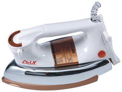Elvin Plancha Gold 750 watt Dry Iron (White)