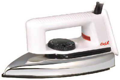 Elvin Popular 750 watt Dry Iron (White)