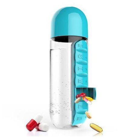 CHG 600 ml Plastic Blue Water Bottles - Set of 1
