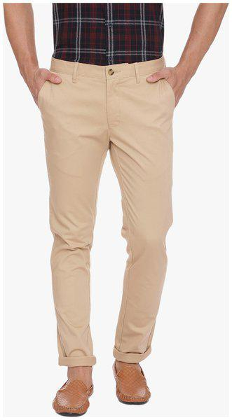 Basics Skinny Fit Taos Taupe Stretch Trouser
