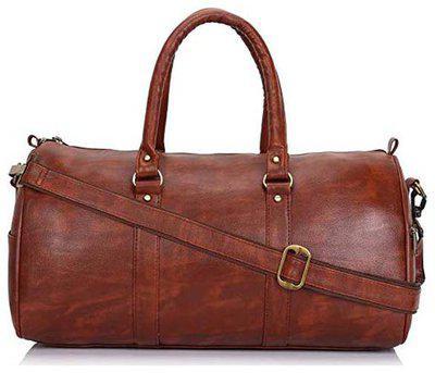 JMO27Deals Leather Men Gym bag & Duffle bag - Brown