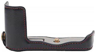 Store2508 Pu Leather Camera Half Case Bag Cover Protector For Nikon J 5 Camera Black Pouch ( Black )