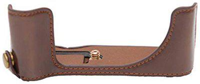 Store2508 Pu Leather Camera Half Case Bag Cover Protector For Canon Powershot G 5 X Powershot G 5 X Brown Pouch ( Brown )