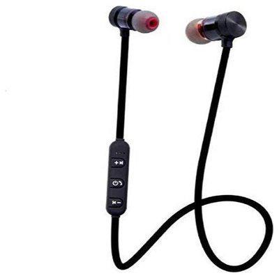 S4 Wireless Sports Bluetooth Magnet Earphone Hand-Free Headphone for All Smartphone (Black)