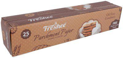 Freshee 25 Meter Parchment Butter Paper Roll and Free Plastic Cutter Inside and Free Plastic Cutter Inside