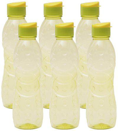 Pearlpet 1000 ml Plastic Green Fridge Bottles - Set of 6