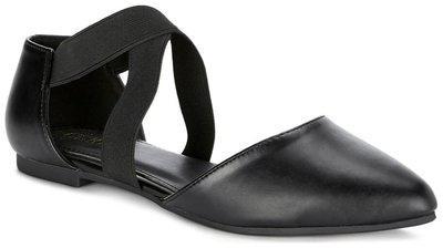 Ceriz Women's Black Synthetic Leather Ballet Flats-