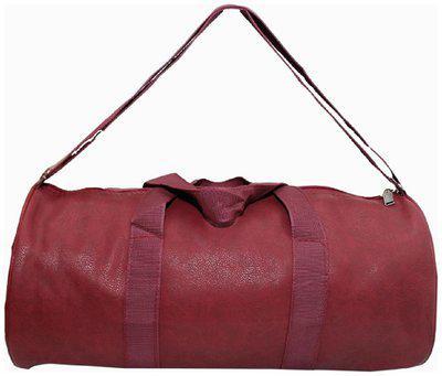 PROERA Faux leather Men Gym bag & Duffle bag - Maroon