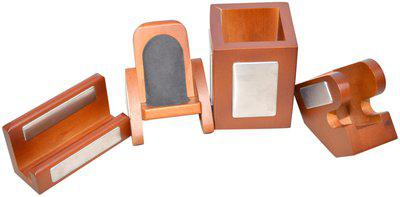 Knott Executive Wooden Desk Organizer Set of Four