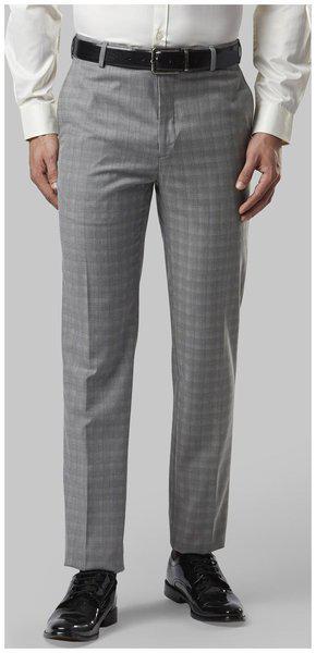 Nextlook Men Polyester Regular Fitsolid Formal Trouser Grey