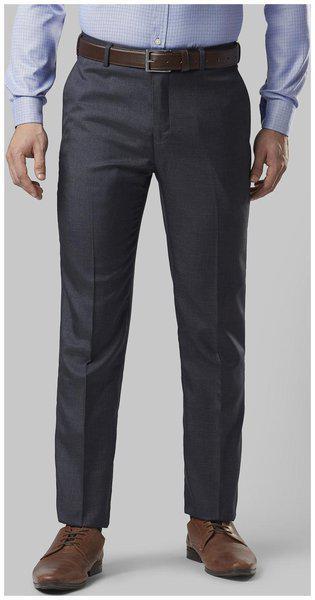Nextlook Men Polyester Regular Fitsolid Formal Trouser Blue
