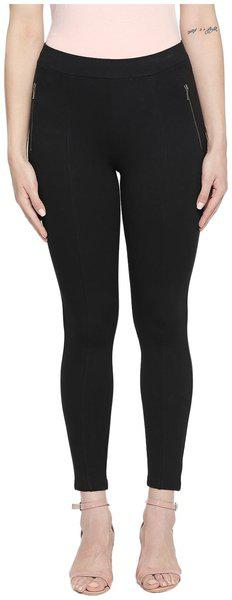 Annabelle By Pantaloons Women Slim Fit Mid Rise Solid TreggingBlack