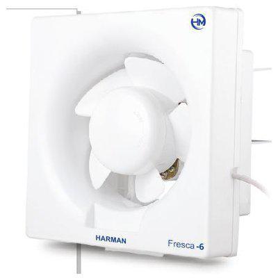 Harman Industries 6 Inch Fresca-6 Ventilation/Exhaust Fan (White)(150 Mm, White)
