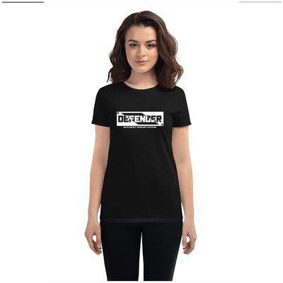 NAVIJERSEY Women Printed Round neck T shirt - Black