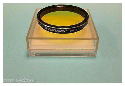 Celestron #12 Yellow 2 Telescope Eyepiece Filter - New In Case