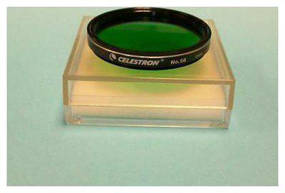 Celestron #58 Green 2 Telescope Eyepiece Filter - New In Case