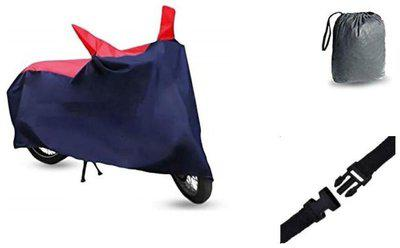 Bigzoom Premium Quality Sporty Red Blue Matty Bike Cover For Hero CD Dawn With bag